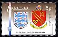 Easdale 1996 Great Sporting Events - Football 5p - Bolton Club Badge Winners of 1922-23 FA Cup Final, unmounted mint
