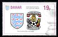 Davaar Island 1996 Great Sporting Events - Football 19p - Coventry City Club Badge Winners of 1986-87 FA Cup Final, unmounted mint