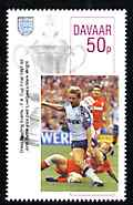Davaar Island 1996 Great Sporting Events - Football 50p - 1991-92 FA Cup Final, unmounted mint