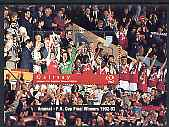 Gairsay 1996 Great Sporting Events - Football \A32 perf m/sheet - Arsenal Winners 1992-93 FA Cup Final, unmounted mint