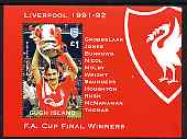 Gugh (Isles Of Scilly) 1996 Great Sporting Events - Football \A32 perf m/sheet - Liverpool Winners 1991-92 FA Cup Final, unmounted mint