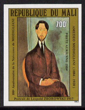 Mali 1984 Painting (Modigliani) imperf from limited printing unmounted mint SG 993var*