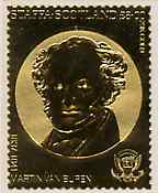 Staffa 1982 US Presidents \A38 Martin Van Buren embossed in 22k gold foil from a limited printing unmounted mint