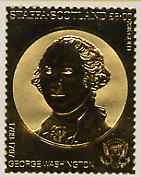 Staffa 1982 US Presidents \A38 George Washington embossed in 22k gold foil from a limited printing unmounted mint