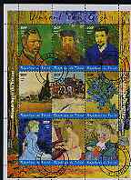 Chad 2001 Paintings by Vincent van Gogh perf sheetlet containing 9 values, cto used