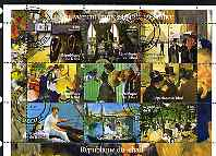 Chad 2001 Impressionist Art in France perf sheetlet containing 9 values, cto used