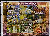 Chad 2001 Impressionist Art in Spain perf sheetlet containing 9 values, cto used