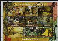 Chad 2000 Impressionist Art in Japan perf sheetlet containing 9 values, cto used