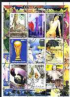Guinea - Conakry 1998 Events of the 20th Century 1920-1929 perf sheetlet containing 9 values cto used