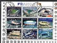 St Thomas & Prince Islands 1997 France 98 (Football Stadia) perf sheetlet containing 9 values cto used