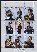 Senegal 1998 Elvis Presley perf sheetlet containing set of 9 values fine cto used