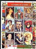 Senegal 1998 Cinema Stars perf sheetlet containing set of 9 values fine cto used (Sinatra, S Loren, Marilyn etc)