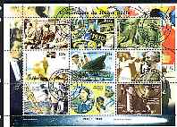 Niger Republic 1998 Events of the 20th Century 1910-1919 perf sheetlet containing 9 values cto used