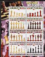 Congo 2003 History of Chess (Chess Pieces) #4 perf sheetlet containing set of 8 values cto used