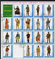 Ajman 1972 Military Uniforms #3 complete perf set of 18 values cto used, Mi 2537A-54A
