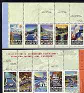 Booklet - Canada 1998 Canadian Canals booklet pane containing complete set of 10 unmounted mint, SG 1795a