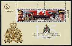 Canada 1998 125th Anniversary of Royal Canadian Mounted Police perf m/sheet with Portugal 98 logo unmounted mint, as SG MS1808
