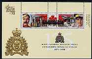 Canada 1998 125th Anniversary of Royal Canadian Mounted Police perf m/sheet with Italia 98 logo unmounted mint, as SG MS1808