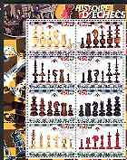 Congo 2003 History of Chess (Chess Pieces) #3 perf sheetlet containing set of 8 values cto used