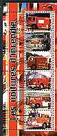 Benin 2003 Fire Engines #2 perf sheetlet containing 6 values cto used