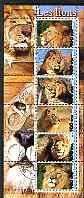 Benin 2003 Lions #2 perf sheetlet containing 6 values cto used
