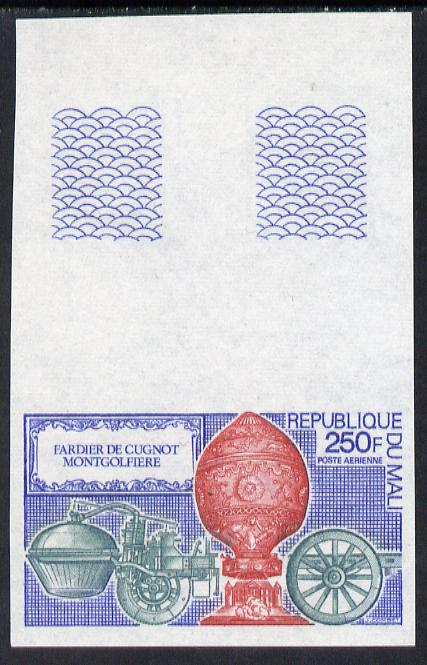 Mali 1972 Montgolfier's Balloon 250f unmounted mint imperf single (as SG 323)