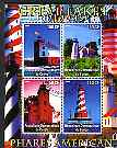 Congo 2004 Lighthouses of America (Great Lakes) perf sheetlet containing 4 values cto used
