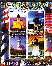 Congo 2004 Lighthouses of America (Pacific Coast) perf sheetlet containing 4 values cto used, stamps on lighthouses