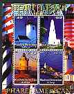 Congo 2004 Lighthouses of America (North East) perf sheetlet containing 4 values cto used