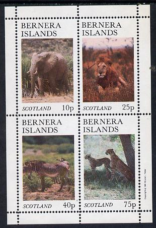 Bernera 1981 Animals (Elephant, Lion. Zebra) perf set of 4 values (imprint in outer margin) unmounted mint
