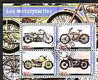 Congo 2003 Early Motorcycles #1 perf sheetlet containing set of 4 values cto used