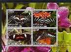Ivory Coast 2004 Butterflies & Orchids perf sheetlet containing set of 4 values cto used