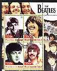 Chad 2003 Legendary Pop Groups - Beatles #2 perf sheetlet containing 4 values cto used