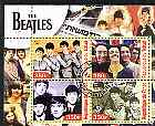 Chad 2003 Legendary Pop Groups - Beatles #3 perf sheetlet containing 4 values cto used