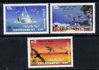 Maldive Islands 1988 Environment Day set of 3 unmounted mint, SG 1274-6