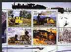 Somalia 2004 Steam Locos perf sheetlet containing 4 values cto used