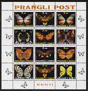 Estonia (Prangli) 1997 ? Butterflies perf sheetlet containing set of 12 values complete, unmounted mint