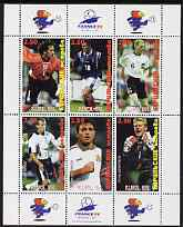 Kuril Islands 1998 Football World Cup perf sheetlet containing set of 6 values with France 98 imprint in margins unmounted mint