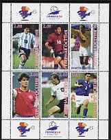 South Ossetia Republic 1998 Football World Cup perf sheetlet containing set of 6 values, unmounted mint