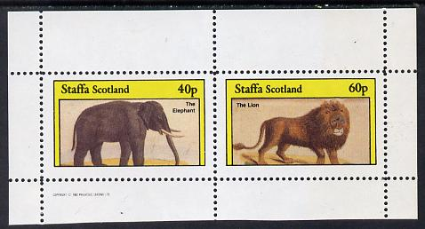 Staffa 1982 Animals (Elephant) perf set of 2 values (40p & 60p) unmounted mint