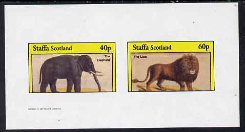 Staffa 1982 Animals (Elephant) imperf set of 2 values (40p & 60p) unmounted mint