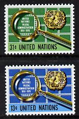 United Nations (NY) 1976 Postal Administration set of 2, SG 284-85
