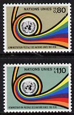 United Nations (Geneva) 1976 Postal Administration set of 2, SG G61-62