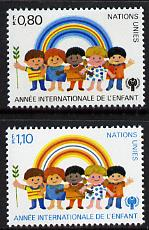 United Nations (Geneva) 1979 Int Year of the Child set of 2, SG G84-85