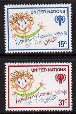 United Nations (NY) 1979 Int Year of the Child set of 2, SG 319-20 unmounted mint
