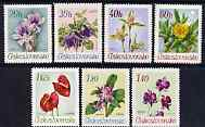 Czechoslovakia 1967 Botanical Garden Flowers perf set of 7 unmounted mint, SG 1675-81