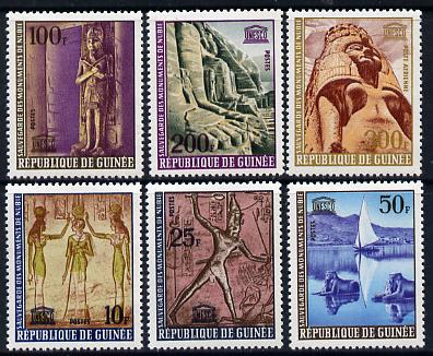 Guinea - Conakry 1964 Nubian Monument s set of 6 SG 458-63