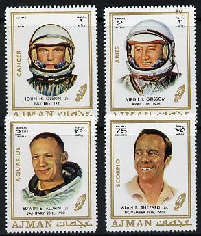 Ajman 1971 Personalities (US Astronauts) 4 values unmounted mint (Mi 783, 787 &790-91)
