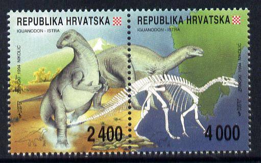 Croatia 1994 Dinosaur Fossils set of 2 in se-tenant pair unmounted mint SG 267a