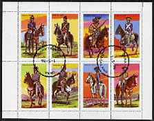 Nagaland 1976 USA Bicentenary (Military Uniforms - On Horseback) complete perf  set of 8 values fine cto used